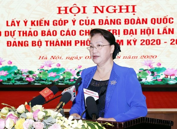 Top legislator makes suggestions to Hanoi's draft political report hinh anh 1