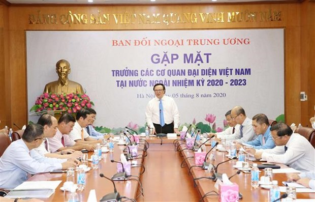 Party commission, representative agencies abroad enhance cooperation hinh anh 1