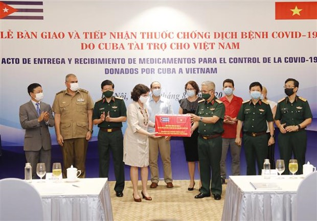 Vietnam receives medicine from Cuba to fight COVID-19 hinh anh 1