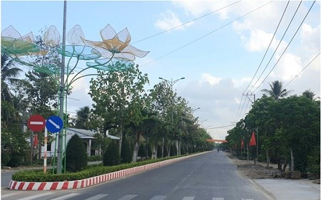 Tra Vinh: first commune becomes advanced new-style rural area hinh anh 1