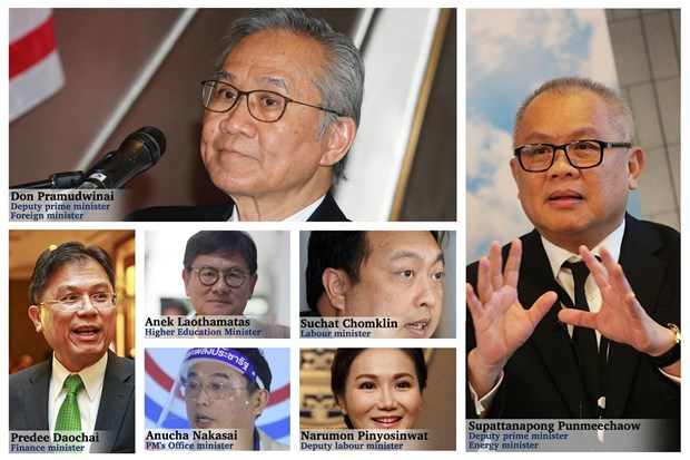 Thai new ministers take oath of office hinh anh 1