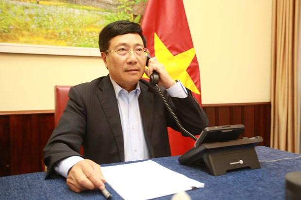 Deputy PM, FM Pham Binh Minh holds talks with Saudi Arabian FM hinh anh 1