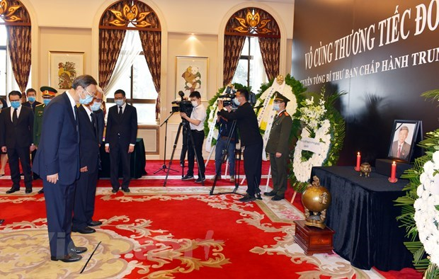 Services held abroad for late Party chief hinh anh 1