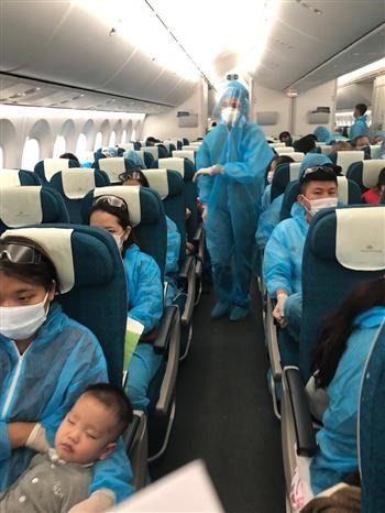 Over 340 Vietnamese citizens flown home from Angola hinh anh 1