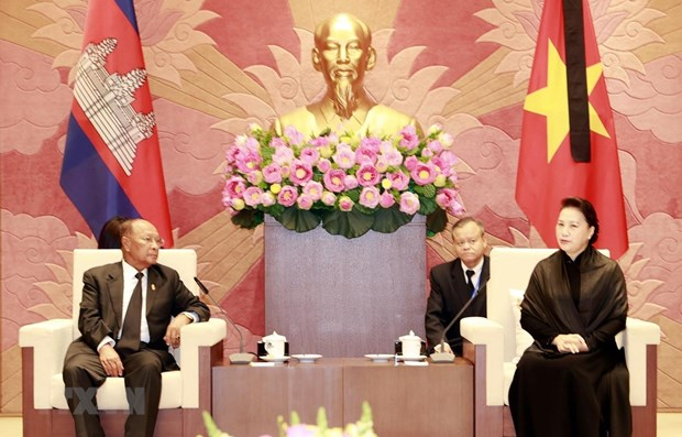 NA Chairwoman meets with Cambodian NA President hinh anh 1