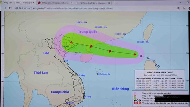 Low tropical pressure in East Sea strengthens into storm hinh anh 1