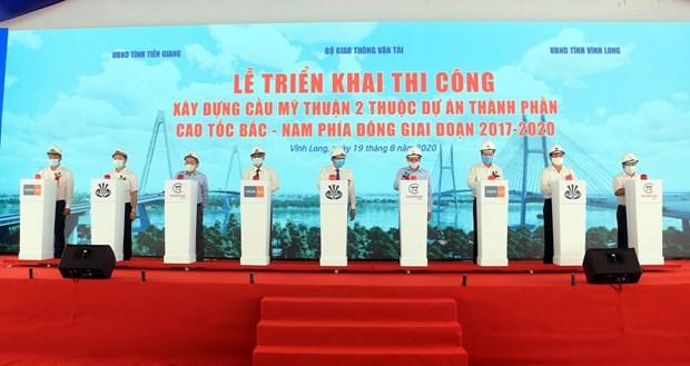 Work starts on over-215-million-USD bridge in Mekong Delta hinh anh 1