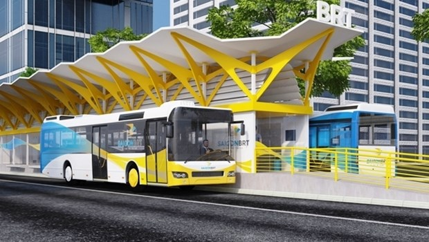 HCM City cuts costs for first BRT route hinh anh 1