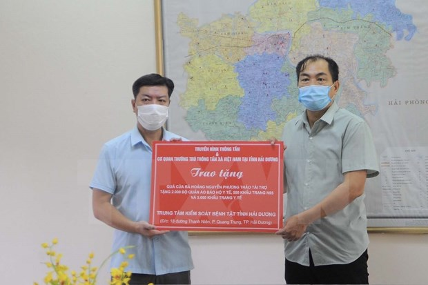 Vietnam News Agency helps Hai Duong cope with COVID-19 hinh anh 1