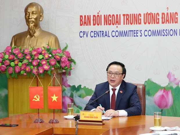 Party officials of Vietnam, Dominican Republic hold online talks hinh anh 1