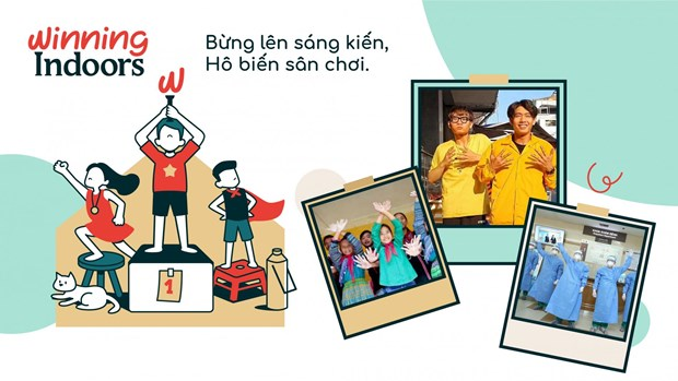 Campaign encourages children to find funs at home amid COVID-19 hinh anh 1