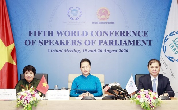 Fifth World Conference of Speakers of Parliament adopts Declaration hinh anh 1