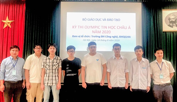 Vietnamese team bag six medals at 13th Asia-Pacific Informatics Olympiad hinh anh 1