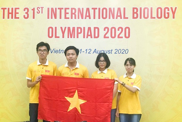 Vietnam wins four prizes at Int'l Biology Olympiad 2020 hinh anh 1