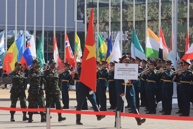 Vietnamese team makes impression at opening of Army Games 2020 hinh anh 2