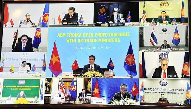 ASEAN, UK hold online economic dialogue hinh anh 1