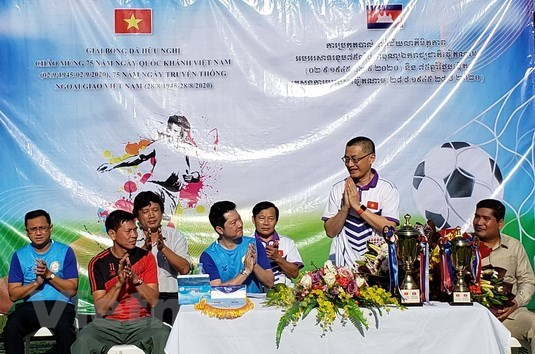 Cambodia friendly football tournament to boost relations hinh anh 1