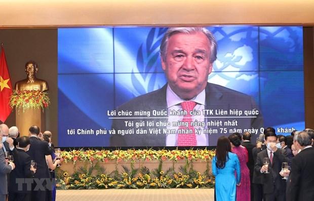 UN Secretary General congratulates Vietnam on National Day hinh anh 1