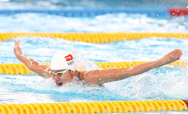 Top female swimmer to go for gold at SEA Games 31 hinh anh 1
