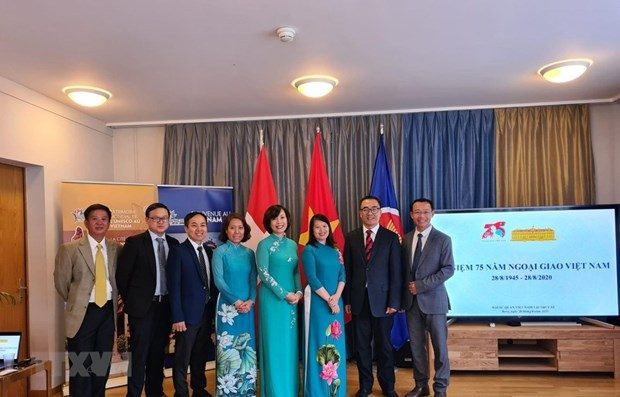 Activities mark Vietnam's National Day in Europe hinh anh 1