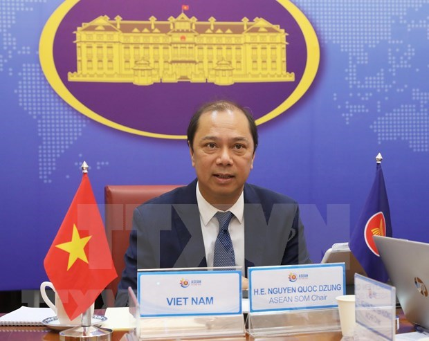 ASEAN senior officials discuss bloc's external relations hinh anh 1