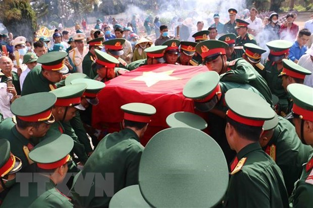 War martyrs laid to rest in Dak Nong hinh anh 1