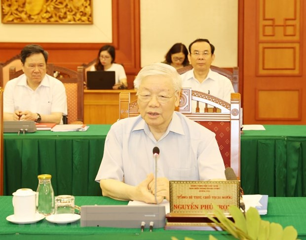 Party leader approves HCM City's preparations for 11th municipal Party Congress hinh anh 1
