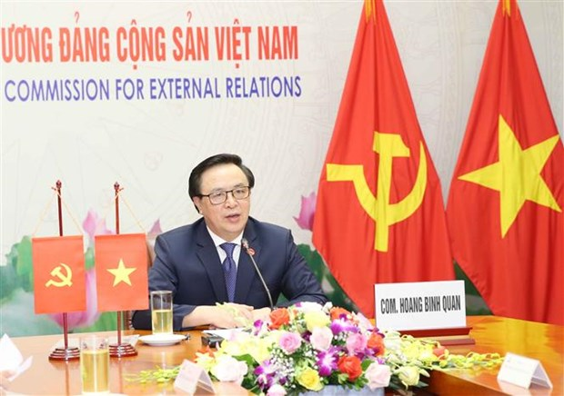Communist Party officials of Vietnam, Japan hold online talks hinh anh 1