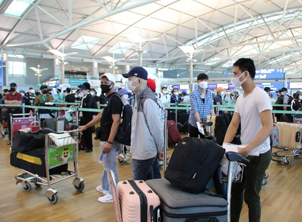 Over 640 Vietnamese repatriated from Singapore, Republic of Korea hinh anh 1