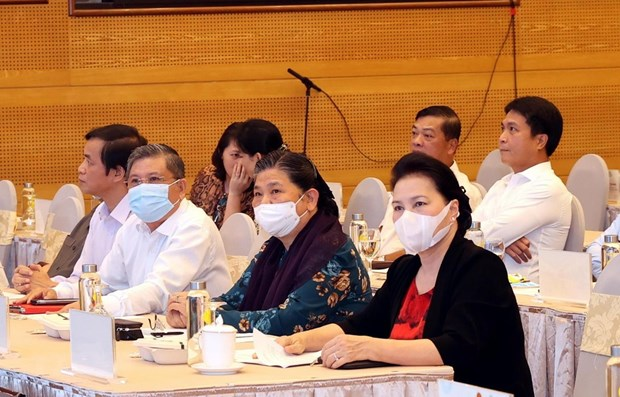 NA Chairwoman attends rehearsal for AIPA-41 hinh anh 1