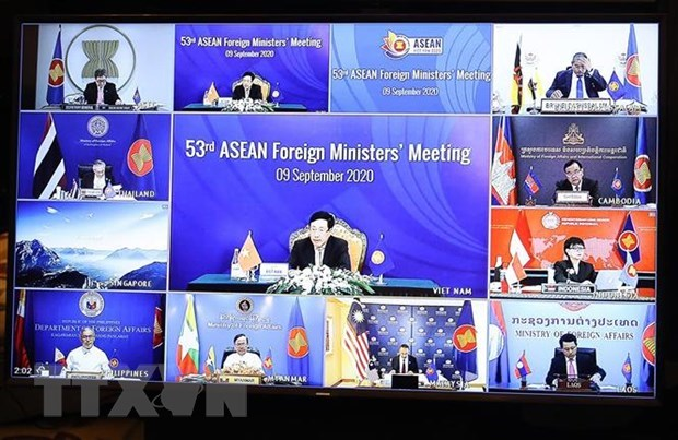 ASEAN 2020: 53rd ASEAN Foreign Ministers' Meeting held online hinh anh 1