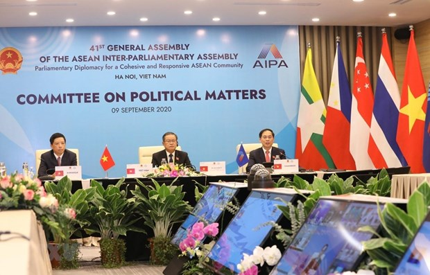 AIPA Committee on Political Matters holds online meeting hinh anh 1