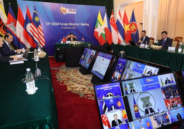 ASEAN 2020: 53rd ASEAN Foreign Ministers' Meeting opens in Hanoi hinh anh 1