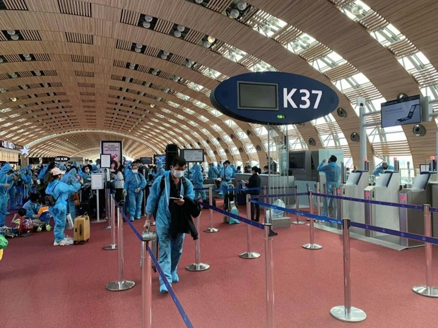 Nearly 280 Vietnamese citizens flown home from France, Morocco, Chile hinh anh 1
