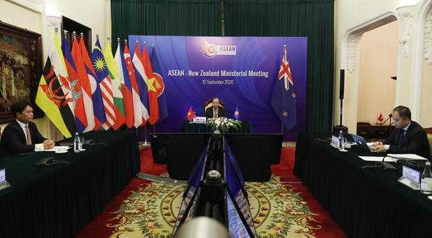 AMM 53: ASEAN-New Zealand Ministerial Meeting runs virtually hinh anh 1