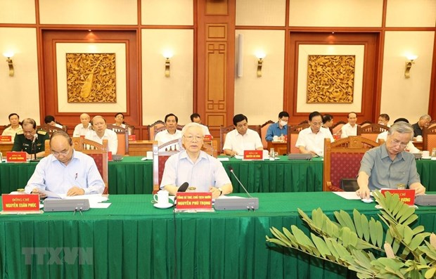 Party chief chairs meeting of sub-committee on documents hinh anh 1
