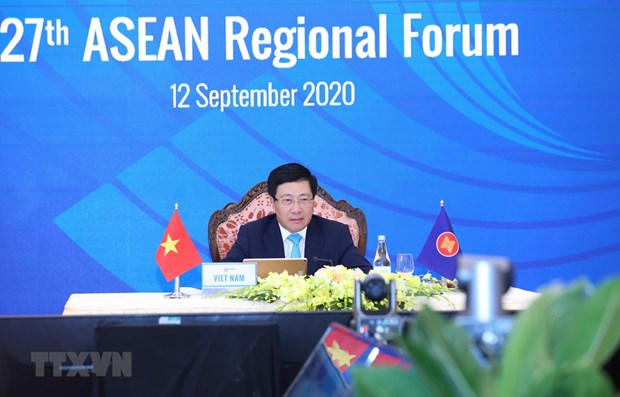 27th ASEAN Regional Forum adopts important documents hinh anh 1