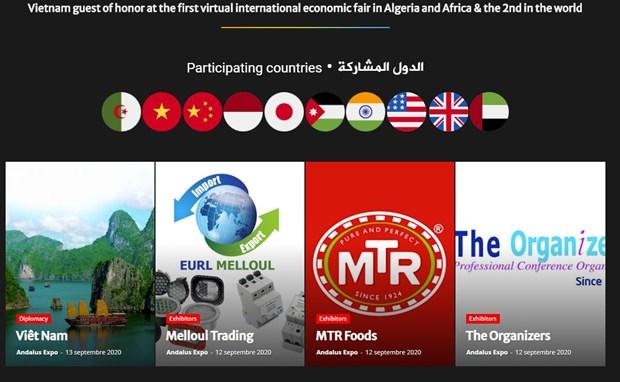 Vietnam joins virtual trade fair in Algeria hinh anh 1