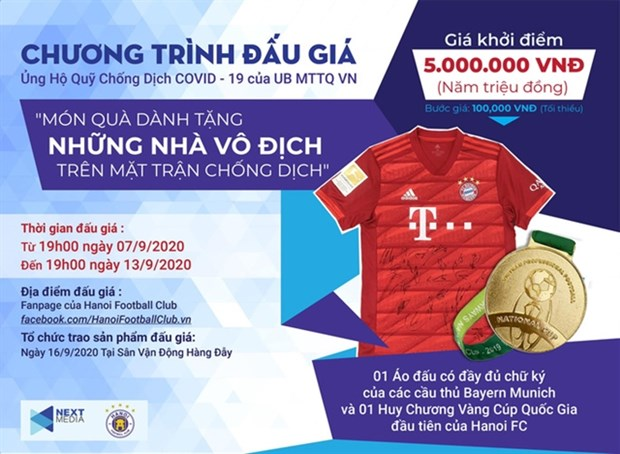 Next Media, Hanoi FC launch auction to support COVID-19 fight hinh anh 1