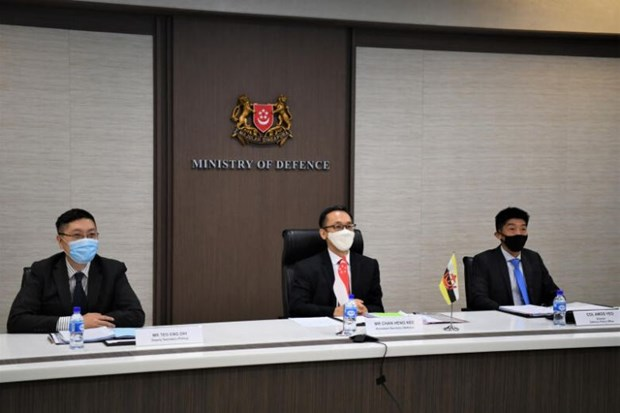Singapore, Brunei reaffirm to enhance bilateral defence cooperation hinh anh 1