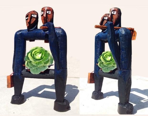 Sculpture works on display at Hanoi – Saigon exhibition 2020 hinh anh 1