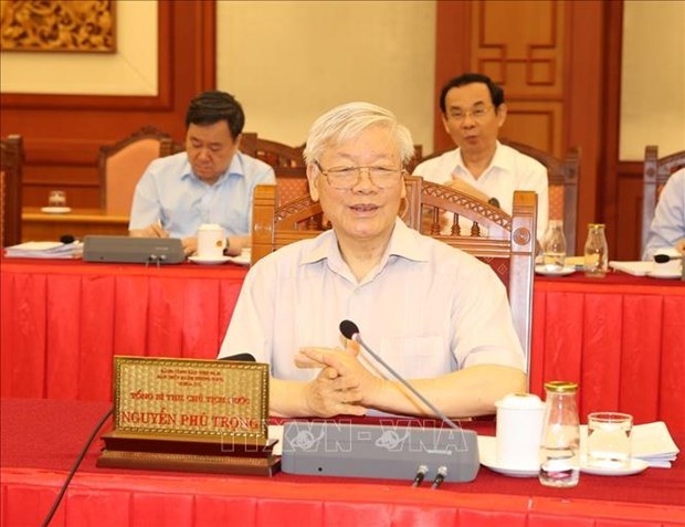 Politburo holds working session with Central Public Security Party Committee hinh anh 1