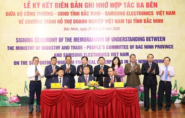 Bac Ninh: Tripartite cooperation programme to boost supporting industry hinh anh 1