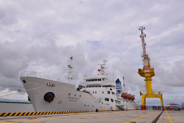 Vietnam Maritime University receives training ship donated by RoK hinh anh 1