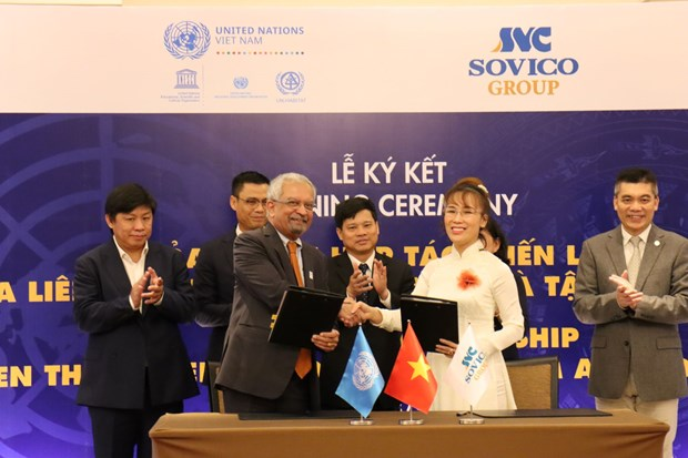 SOVICO Group becomes UN's strategic partner hinh anh 1
