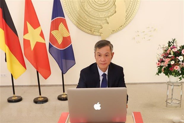 Webinar marks 45th anniversary of Vietnam-Germany diplomatic ties hinh anh 1