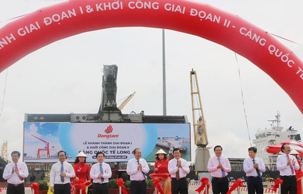 Long An international port's phase 1 inaugurated hinh anh 1