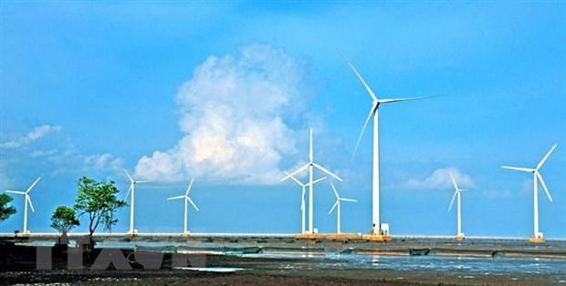 Construction begins on three wind power projects in Soc Trang hinh anh 1