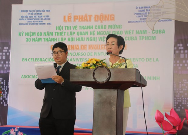 Painting contest marks Vietnam-Cuba diplomatic ties hinh anh 1