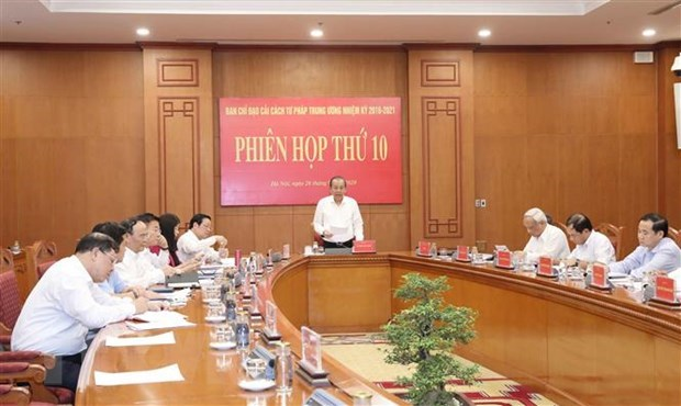 Central Steering Committee for Judicial Reform convenes 10th meeting hinh anh 1